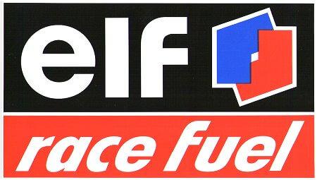 レーシングステッカー elf / race fuel (L) ステッカー