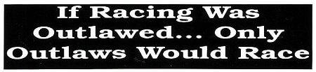 レーシングステッカー OUTLAWS / If Racing (L) ステッカー