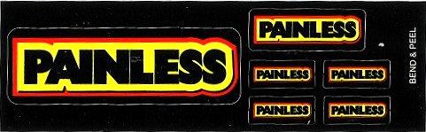 レーシングステッカー PAINLESS (6枚セット) ステッカー