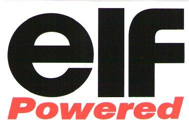 レーシングステッカー elf / powered ステッカー