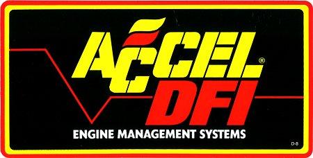 レーシングステッカー ACCEL DFI ステッカー