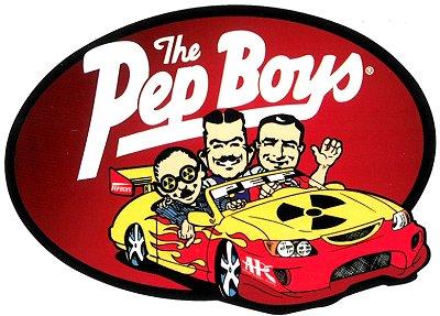pep boys ペップボーイズ レーシングステッカー