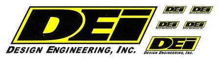 レーシングステッカー DEI (6枚セット) ステッカー