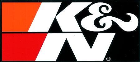 レーシングステッカー K&N (L) ステッカー