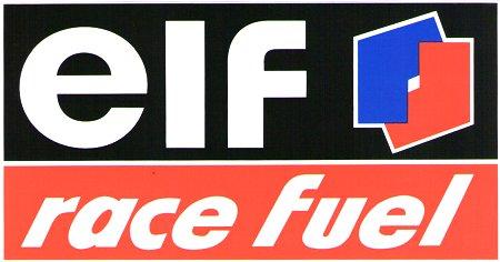 レーシングステッカー elf / race fuel ステッカー