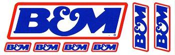 レーシングステッカー B&M (7枚セット) ステッカー
