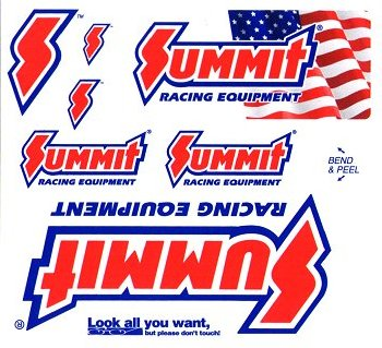レーシングステッカー SUMMIT (8枚セット) ステッカー