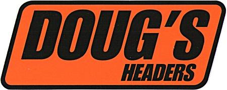 レーシングステッカー DOUG'S HEADERS (L) ステッカー