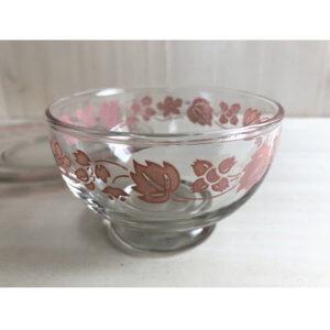 Hazel Atlas ヘーゼルアトラス ピンクアイビー デザートカップ