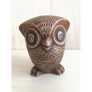 ヴィンテージ 陶器 フクロウ オブジェ 置物